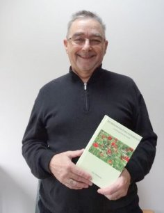 Ted Morgan with his new book Wordsmith's Wanderings, published November 1st 2014 by Violet Circle Publishing, Manchester UK.